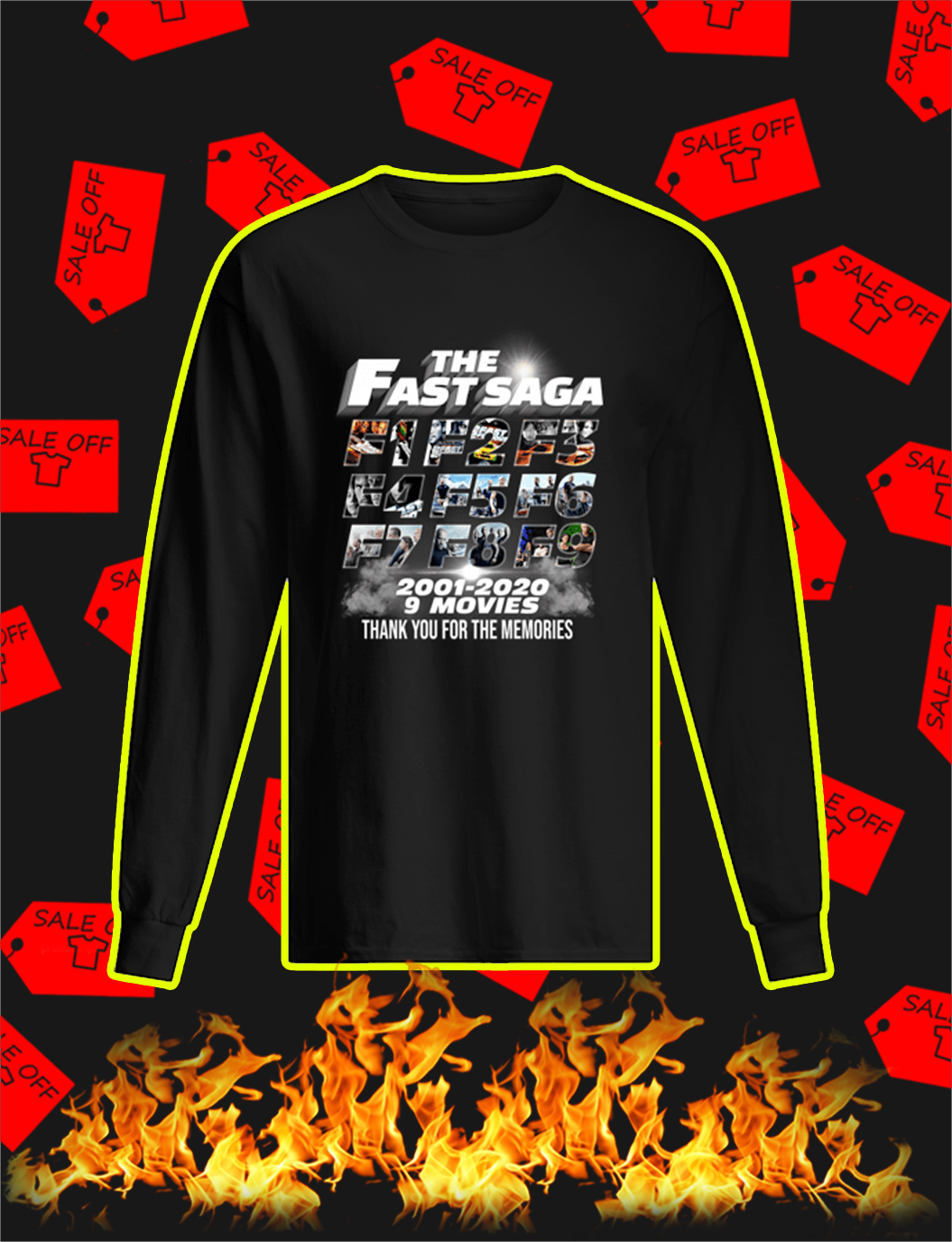 The Fast Saga 2001 2020 Thank You For The Memories longsleeve tee