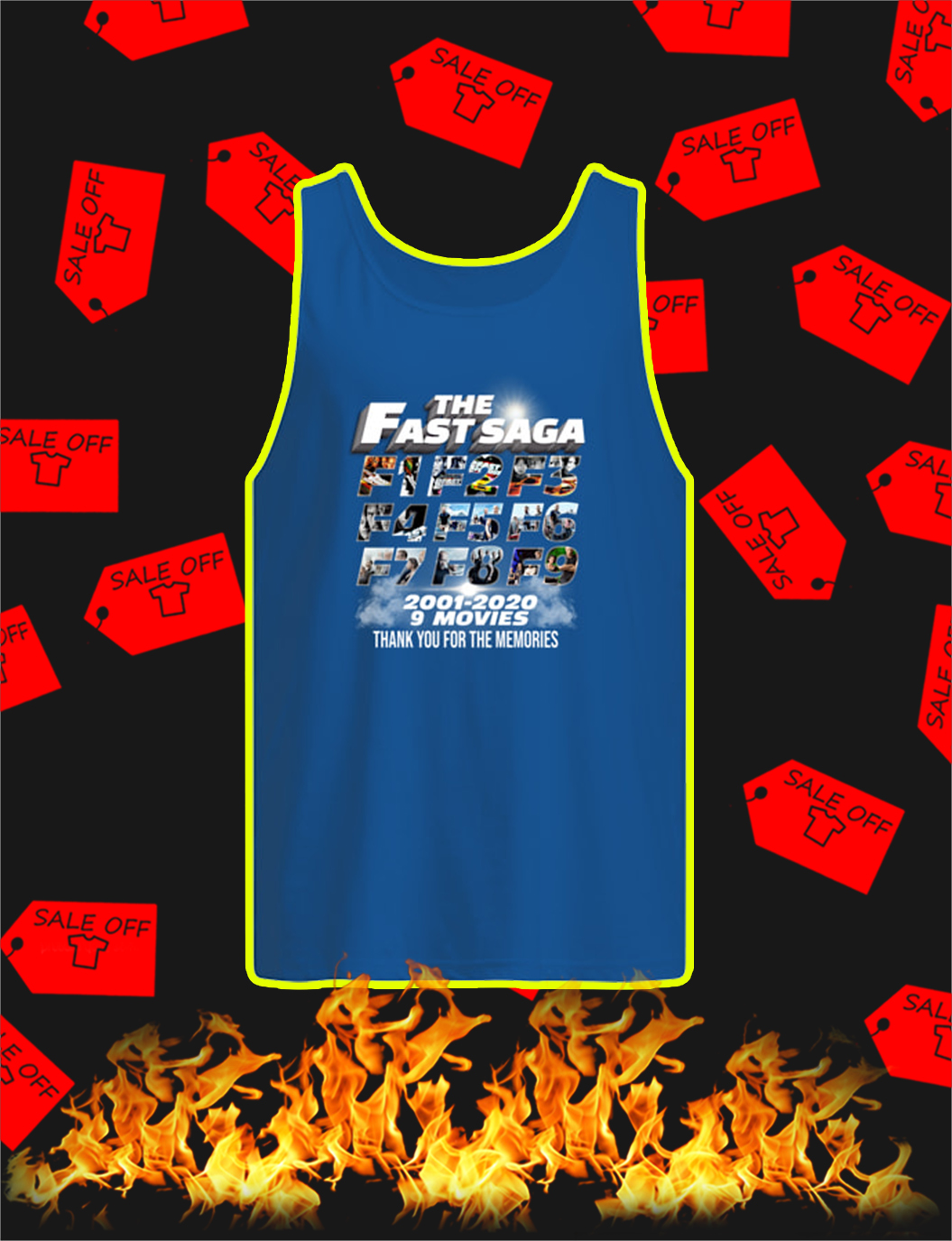 The Fast Saga 2001 2020 Thank You For The Memories tank top