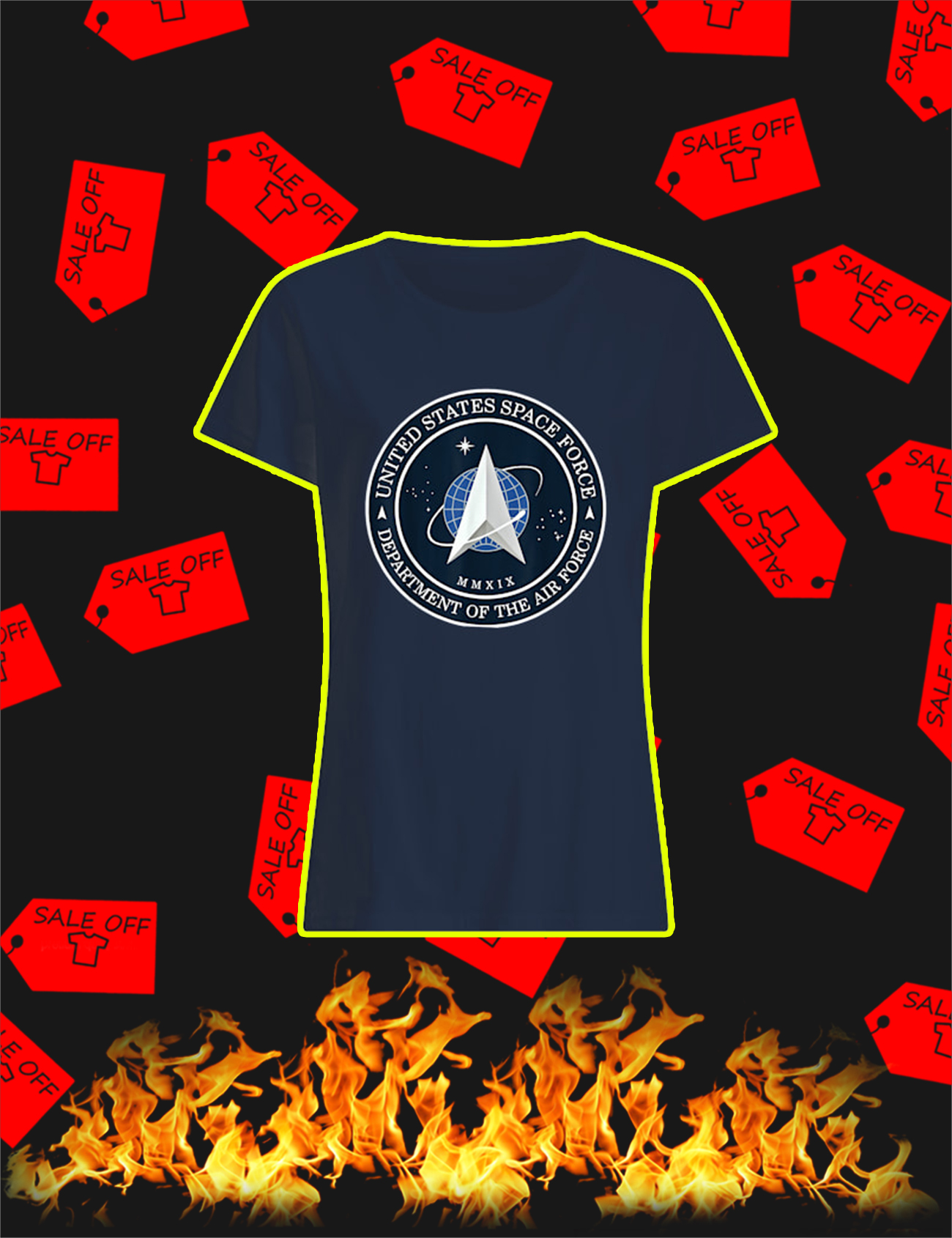 United States Space Force Department Of The Air Force Woman's Tee