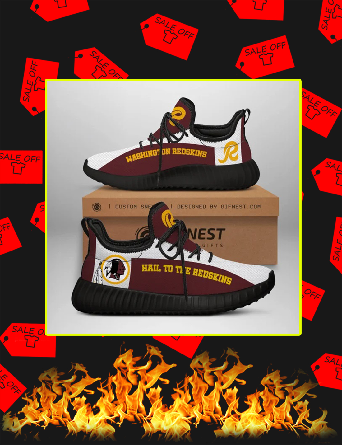 Washington Redskins NFL Yeezy Sneaker - Picture 3