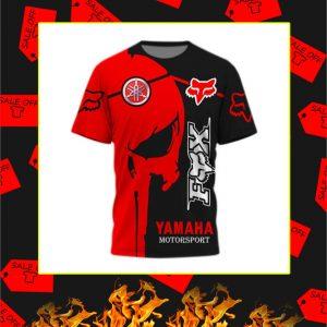 Yamaha Red Punisher Skull Fox Racing 3D Shirt