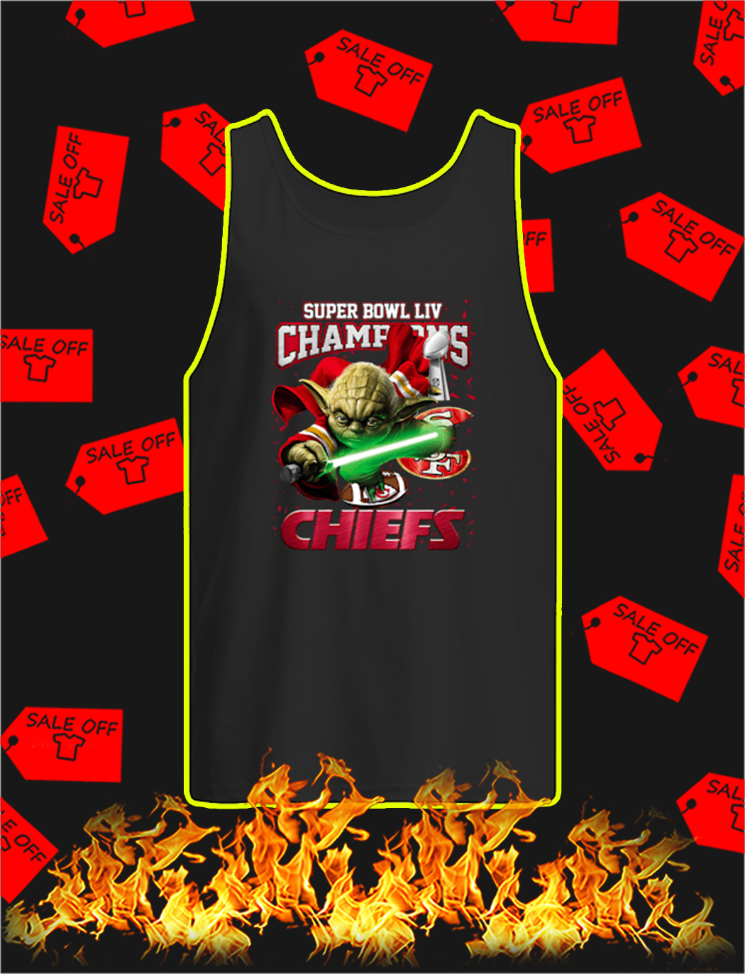 Yoda Chiefs Super Bowl LIV Champions tank top