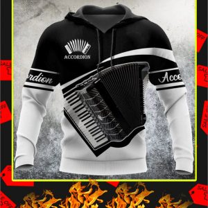 Accordion music 3d hoodie