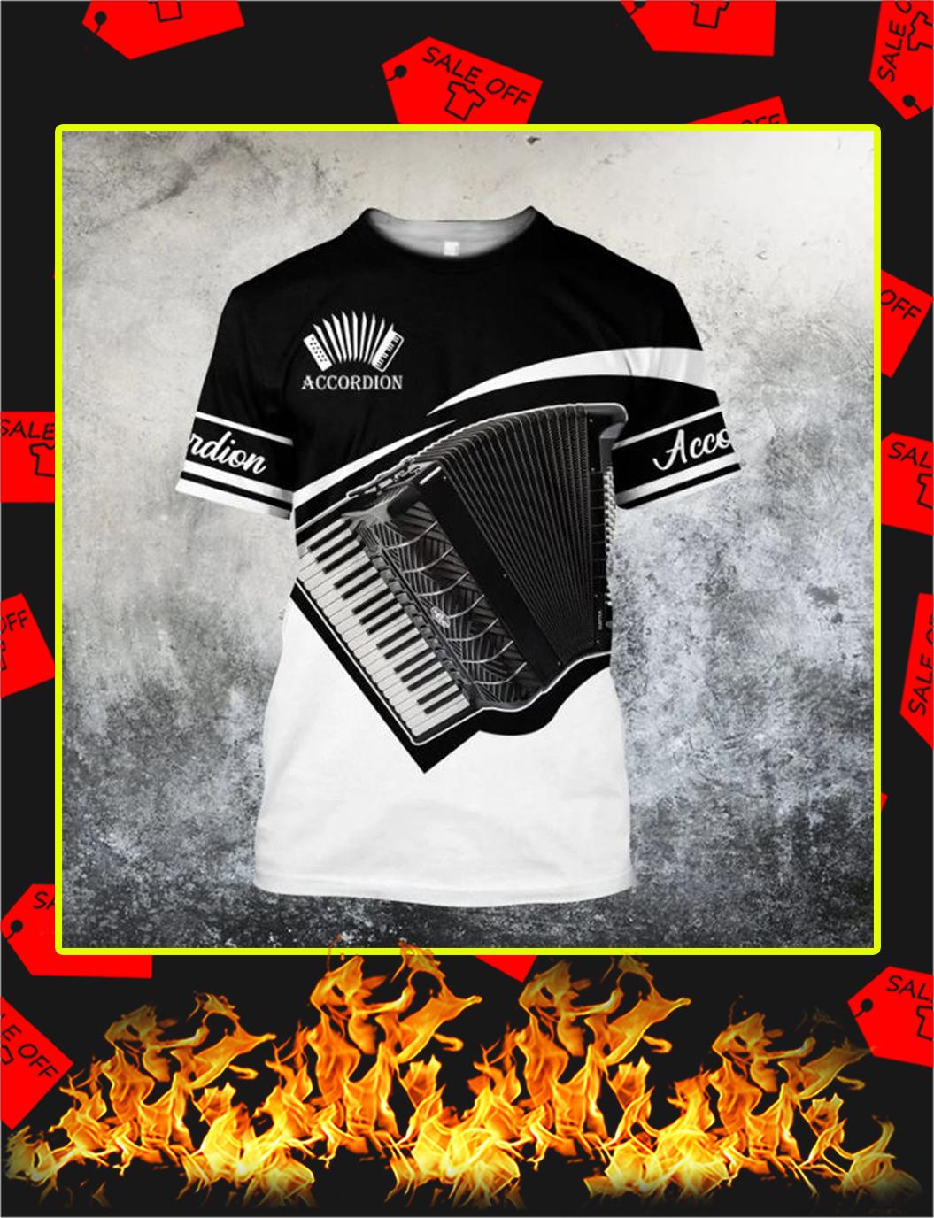 Accordion music 3d shirt