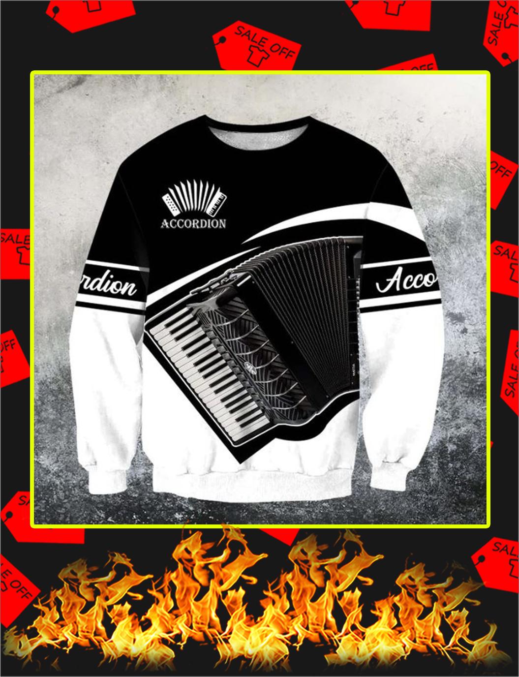 Accordion music 3d sweatshirt