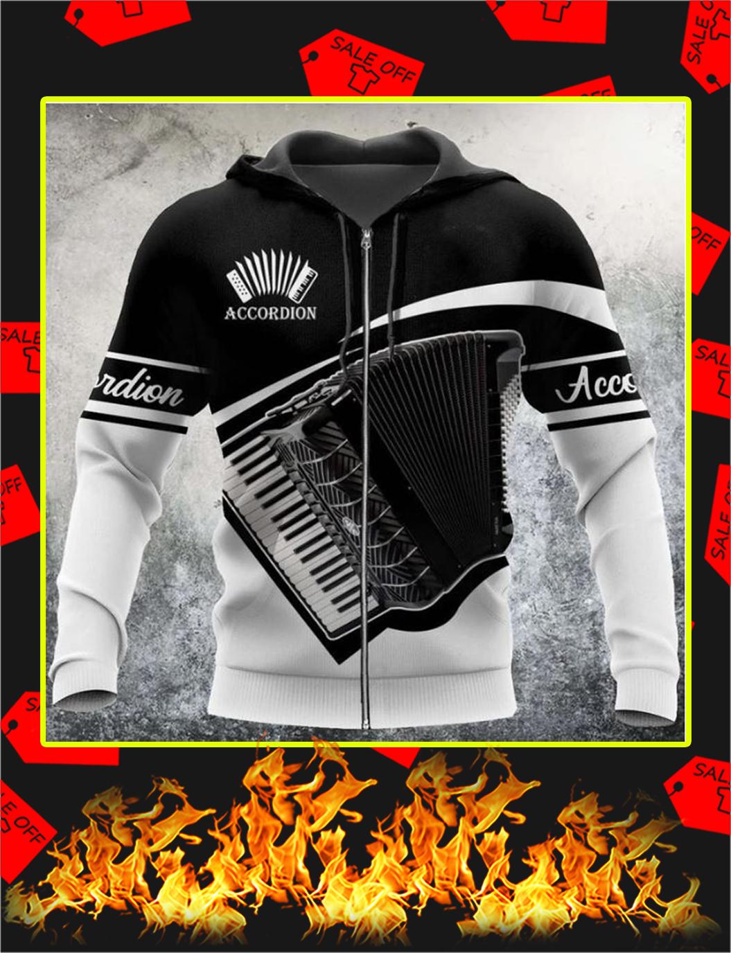 Accordion music 3d zip hoodie