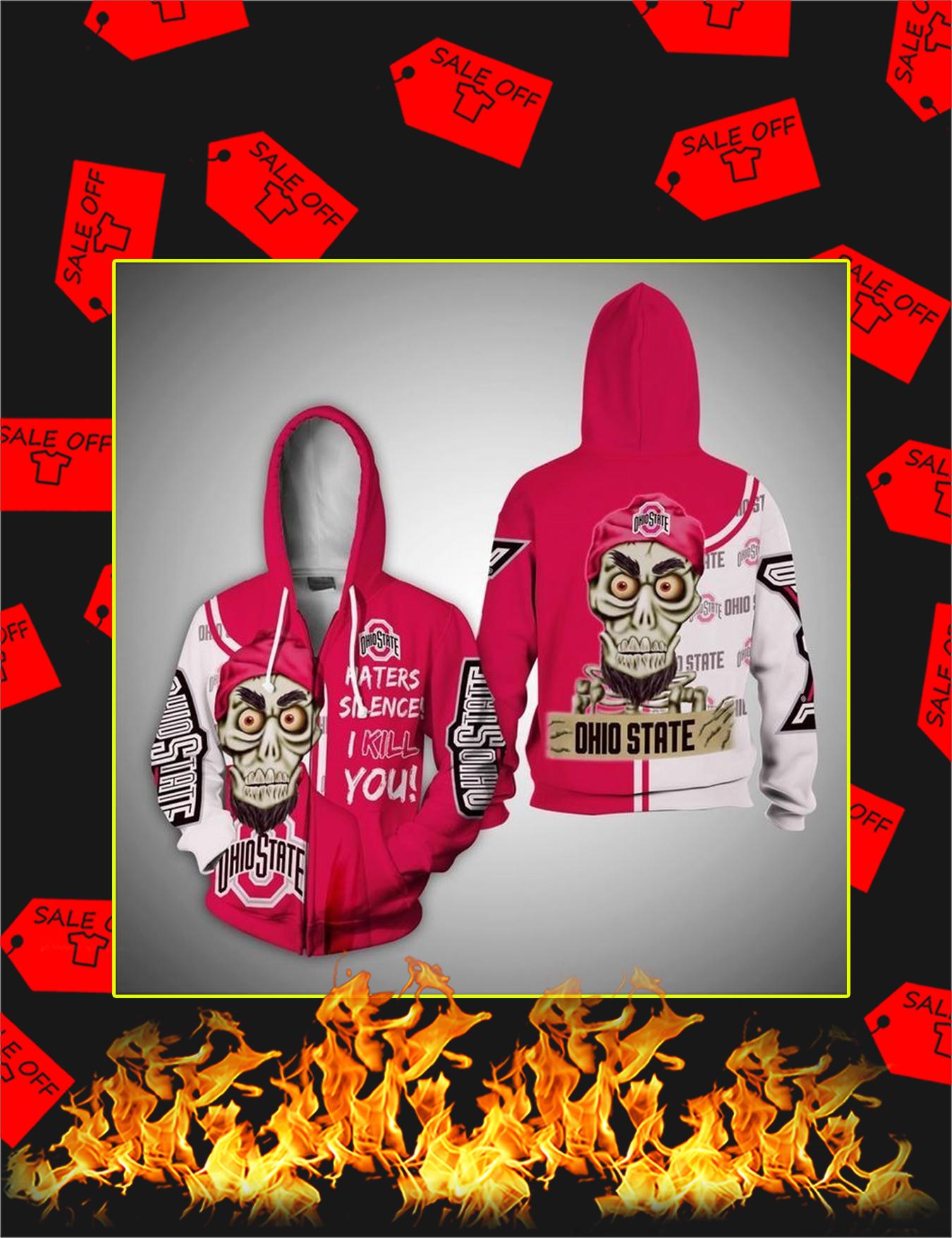Achmed Ohio State Buckeyes 3d zip hoodie