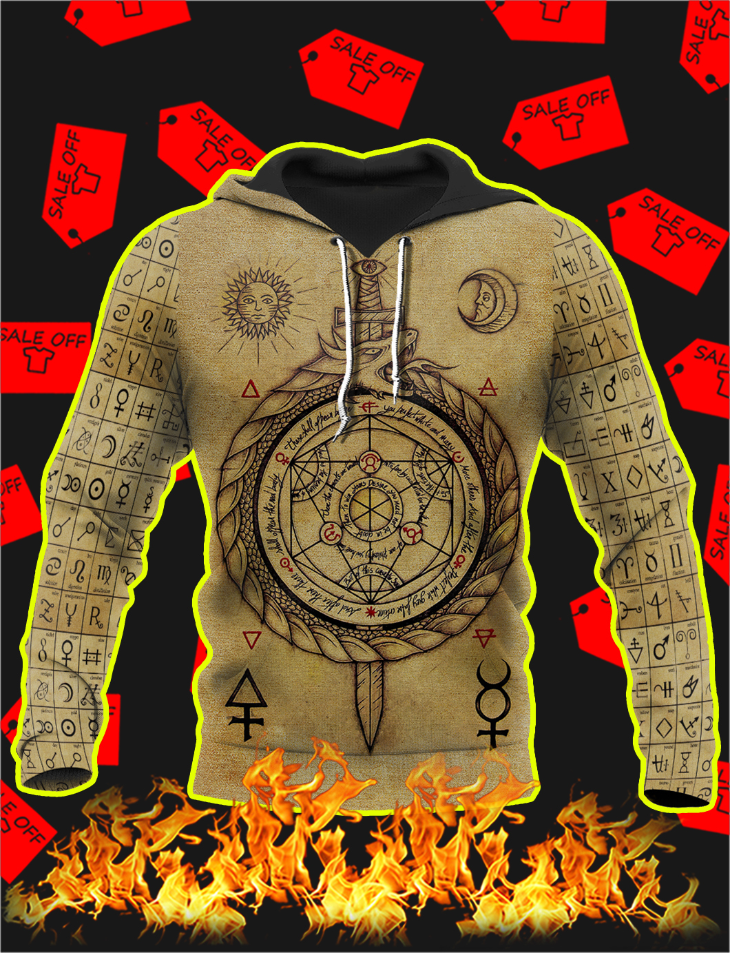 Alchemy 3D All Over Printed Hoodie