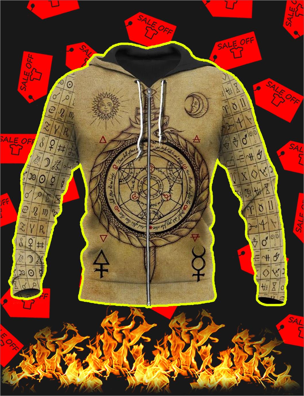 Alchemy 3D All Over Printed Zip Hoodie