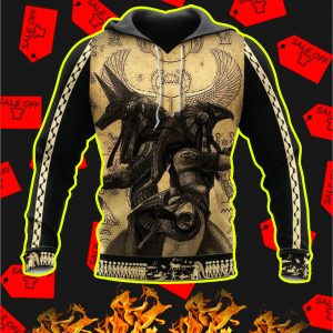 Anubis Ancient Egypt 3D All Over Printed Hoodie