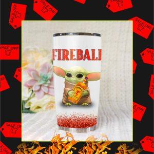 Baby Yoda Fireball Tumbler