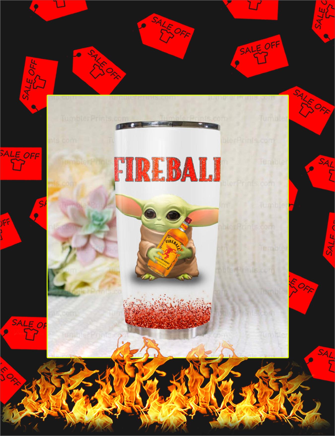 Baby Yoda Fireball Tumbler - Picture 1