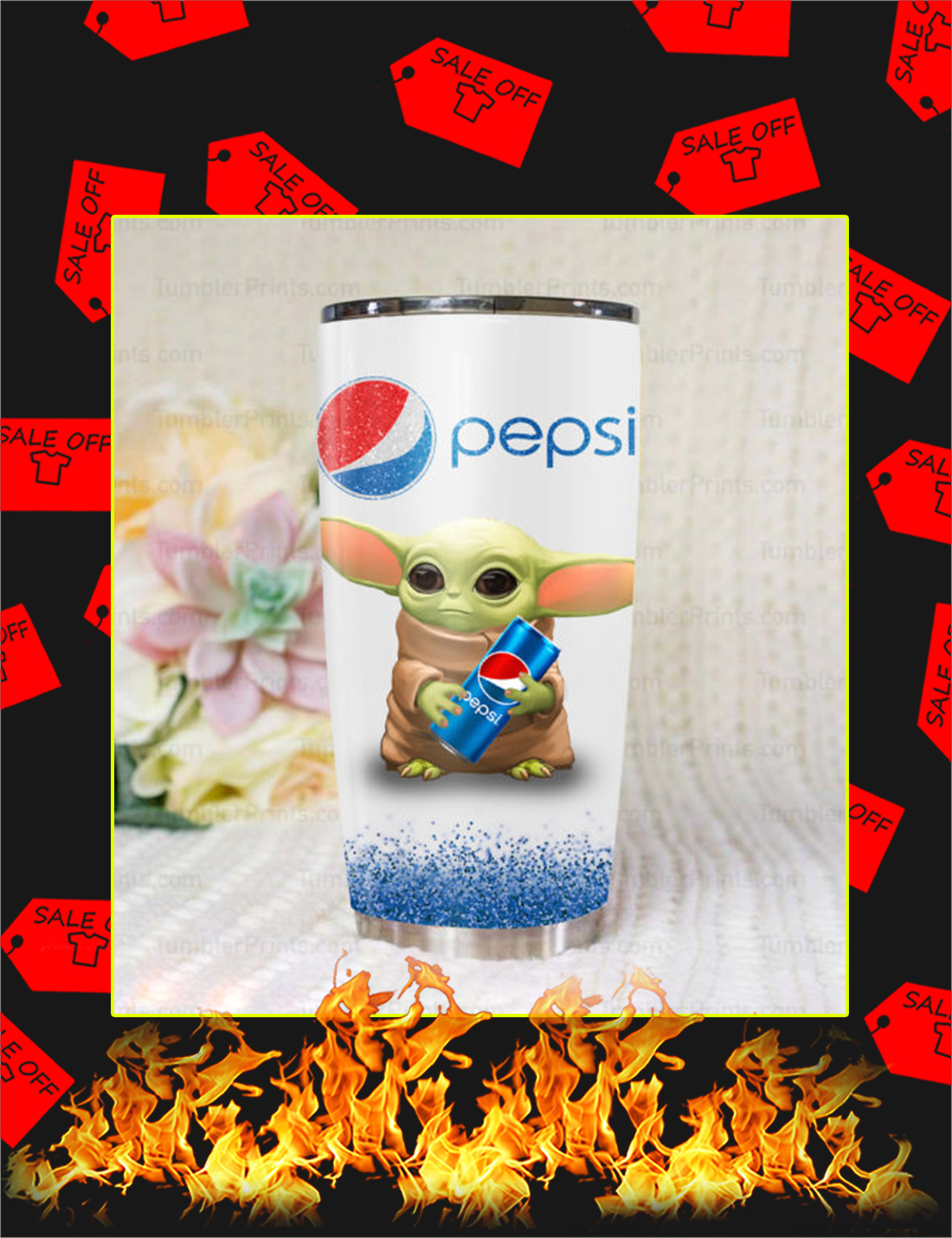 Baby Yoda Pepsi Tumbler - Picture 1