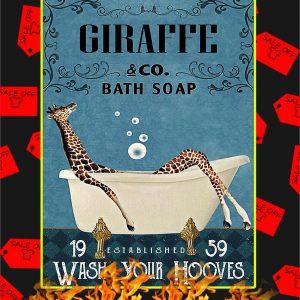 Bath Soap Company Giraffe Poster