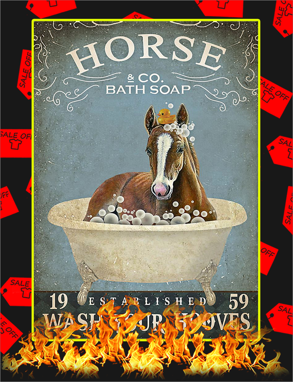 Bath soap company horse poster - A1