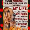Bloodhound I'm your friend poster