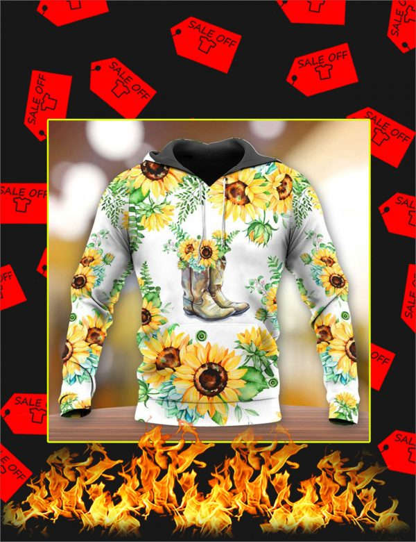 Boots Sunflower 3d All Over Printed hoodie
