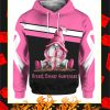 Breast Cancer Awareness Gnome 3d Hoodie