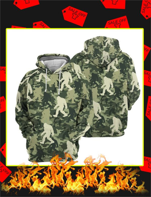 Camo Bigfoot 3D All Over Printed hoodie