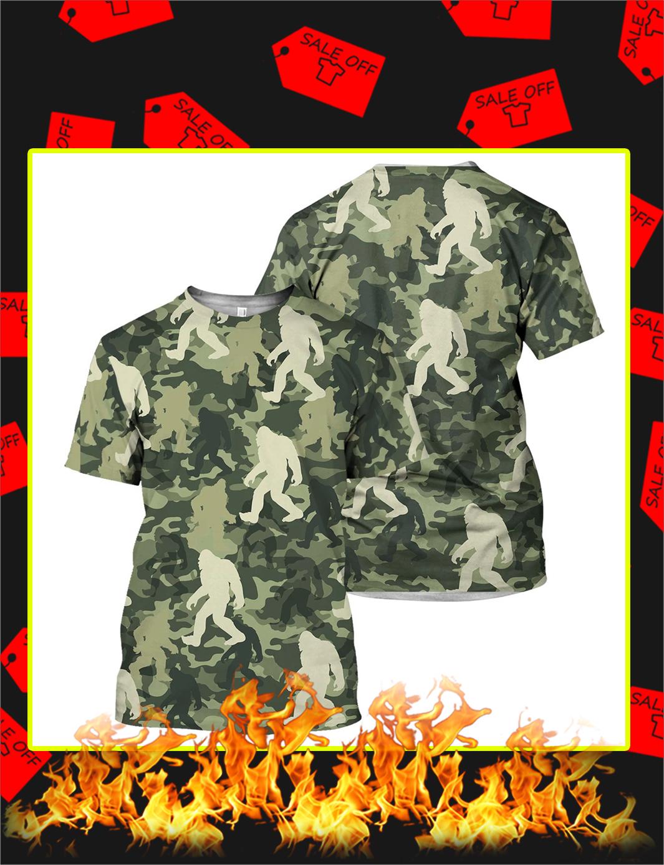 Camo Bigfoot 3D All Over Printed t-shirt