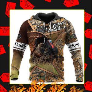 Camo Turkey Hunting 3d Hoodie