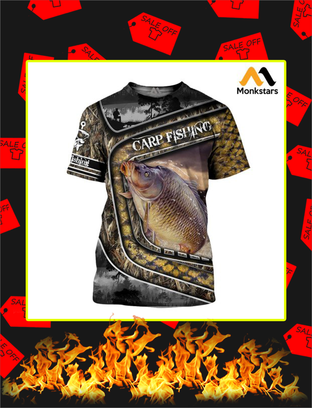 Carp Fishing Camo 3D All Over Printed shirt