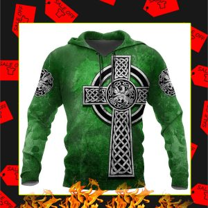 Celtic Cross Lion 3D All Over Printed Hoodie