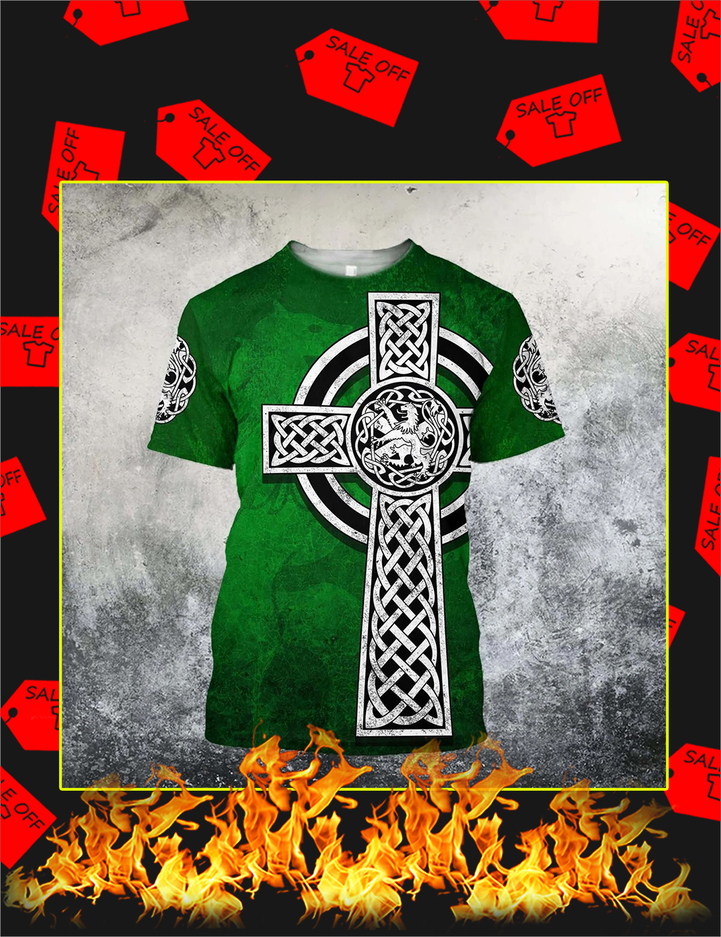 Celtic Cross Lion 3D All Over Printed Shirt