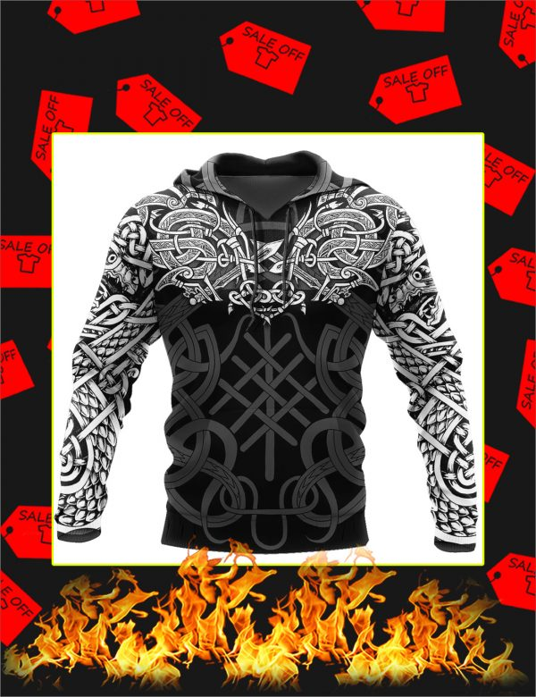 Celtic Dragon Tattoo Art 3D All Over Printed Hoodie