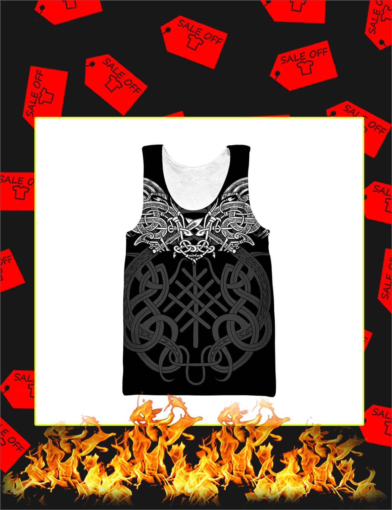 Celtic Dragon Tattoo Art 3D All Over Printed Tank Top