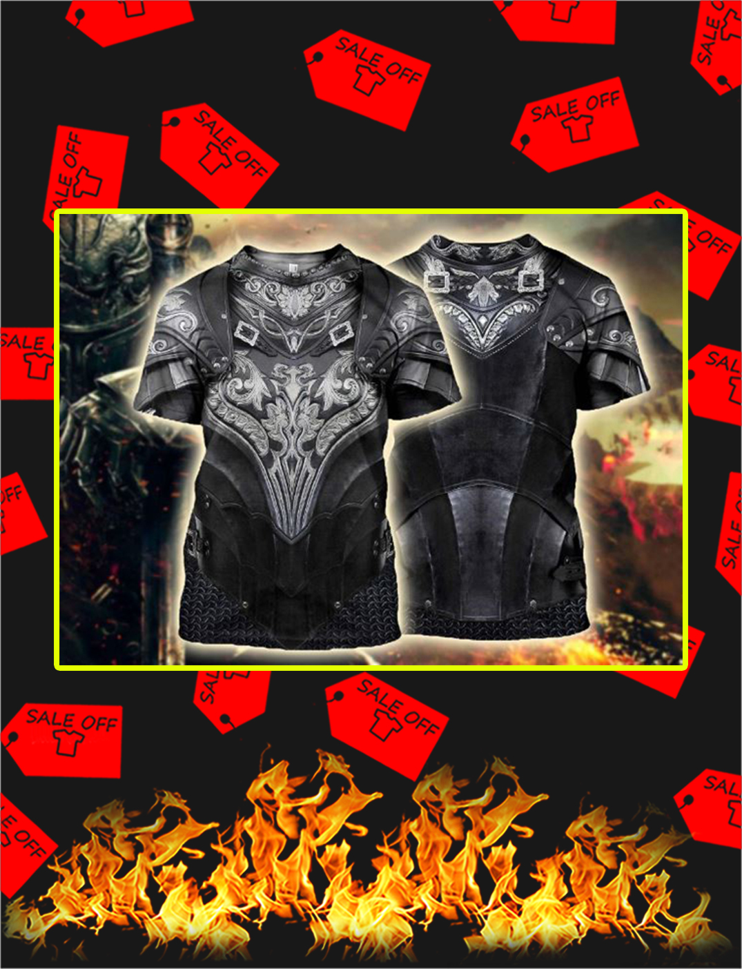 Chainmail Knight Armor 3D Printed Shirt