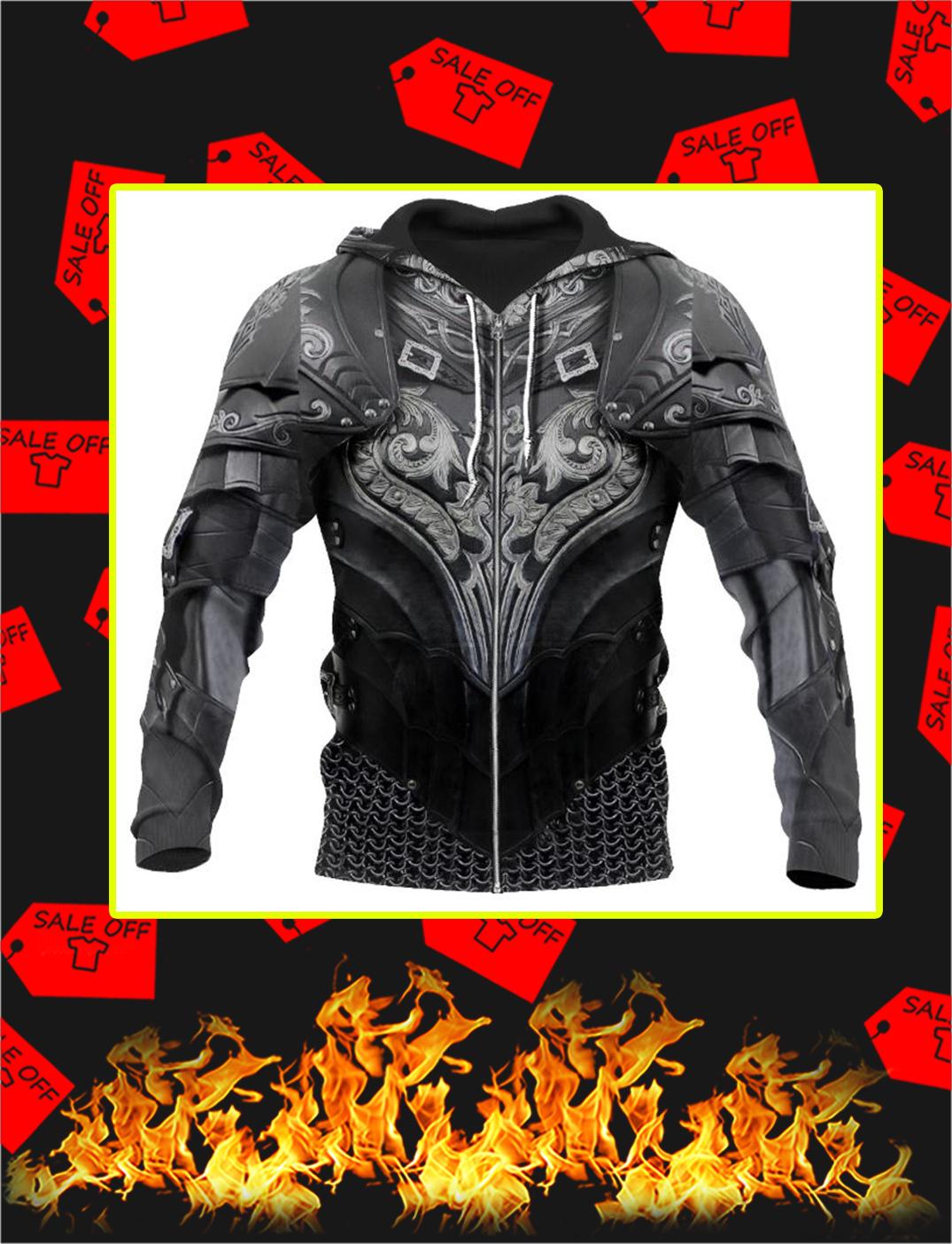 Chainmail Knight Armor 3D Printed Zip Hoodie
