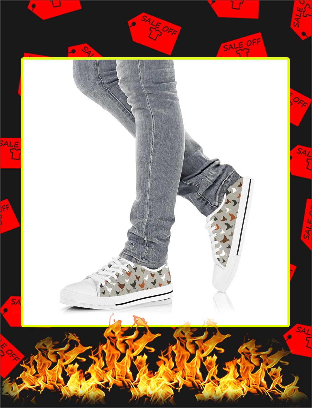 Chicken Low Top Shoes- picture 3
