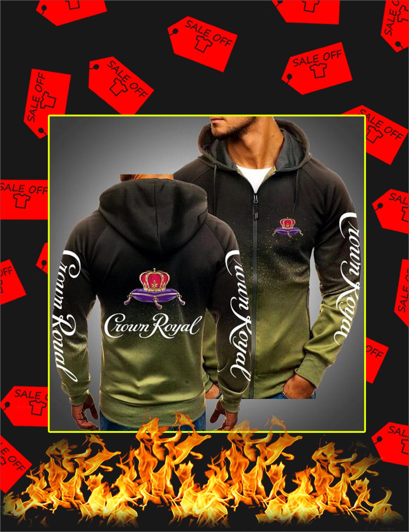 Crown Royal Gradient Hoodie - Olive