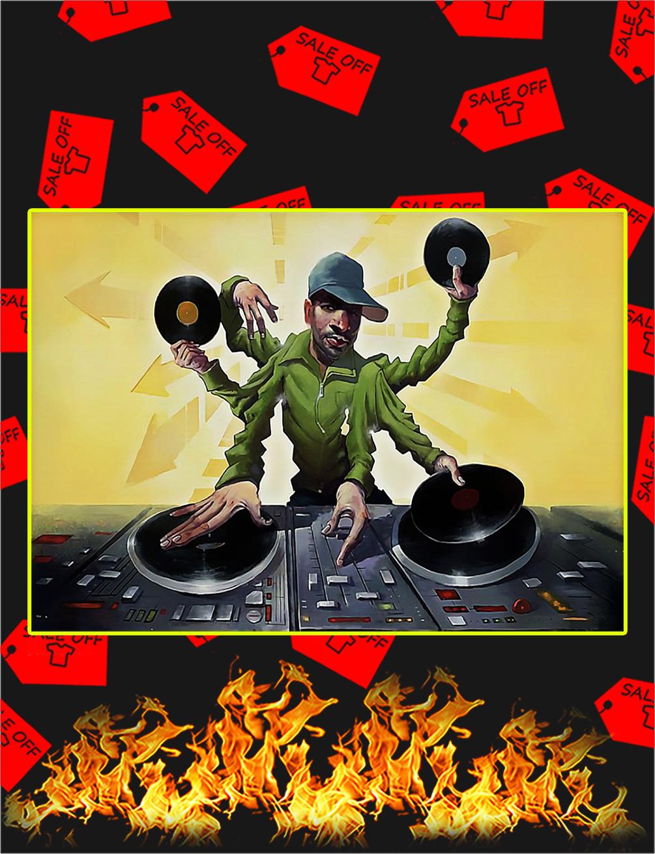DJ master mixing poster - A4