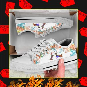 Dachshund Watercolor Low Top Shoes