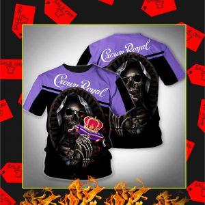 Death Skull Hug Crown Royal 3D Shirt