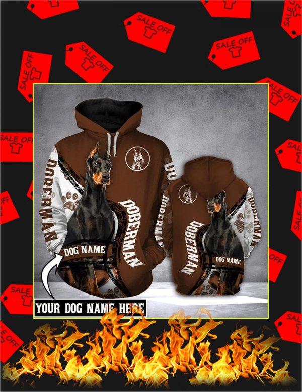 Doberman Dog Custom Name 3d Hoodie