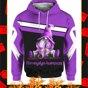 Fibromyalgia Awareness Gnome 3d hoodie