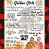 Golden Girls Inspired Flower Poster