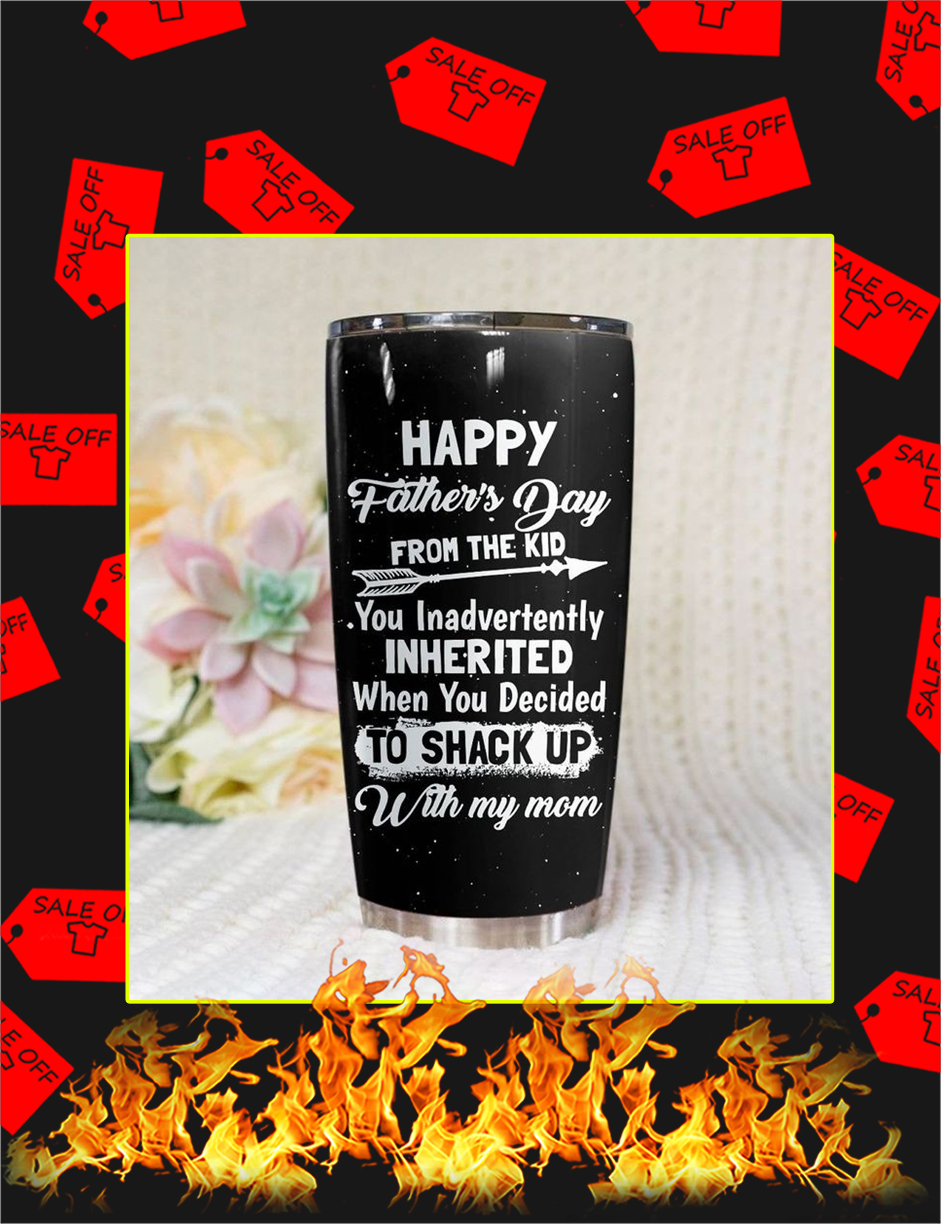 Happy father's day from the kid tumbler - 20oz