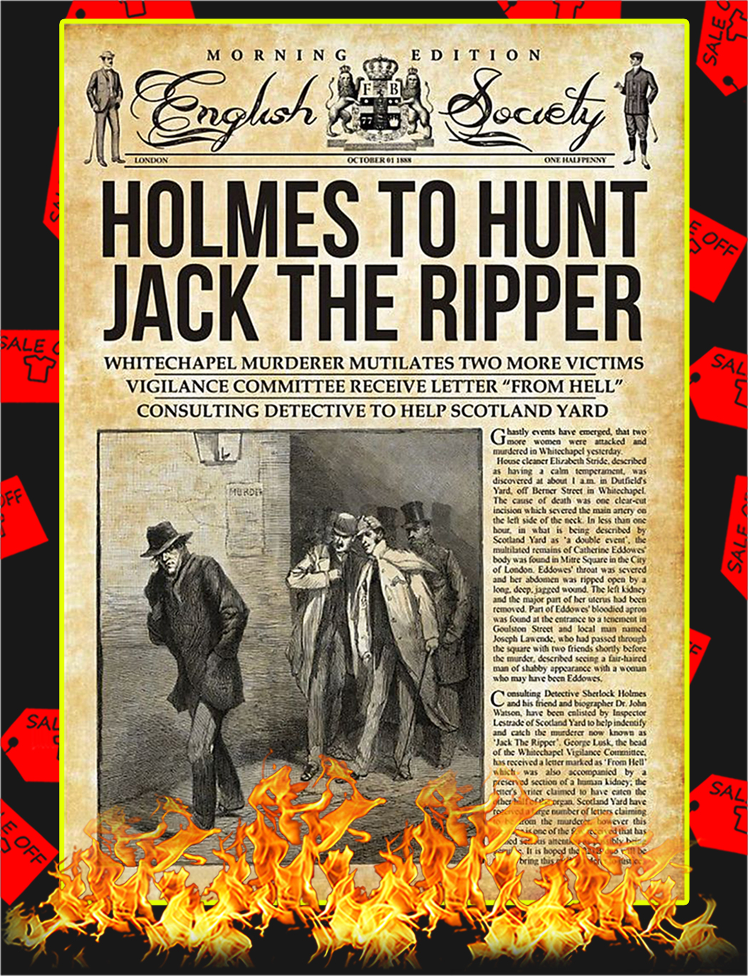 Holmes To Hunt Jack The Ripper Poster - A2