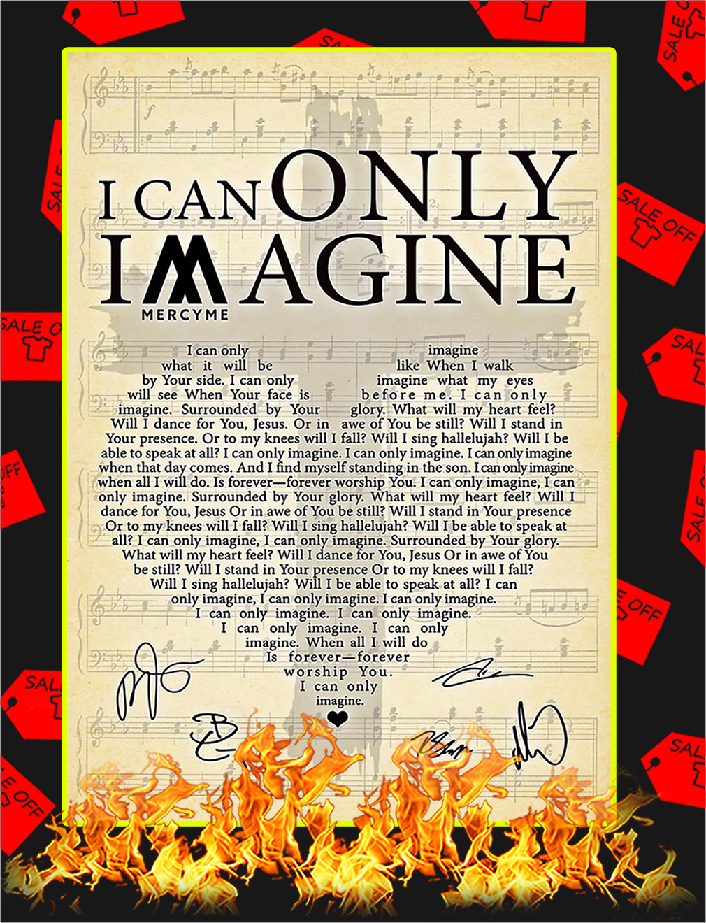 I Can Only Imagine Signature Poster - A2