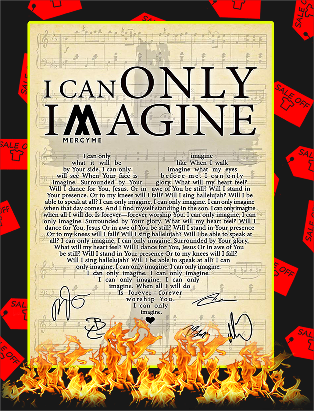 I Can Only Imagine Signature Poster - A3