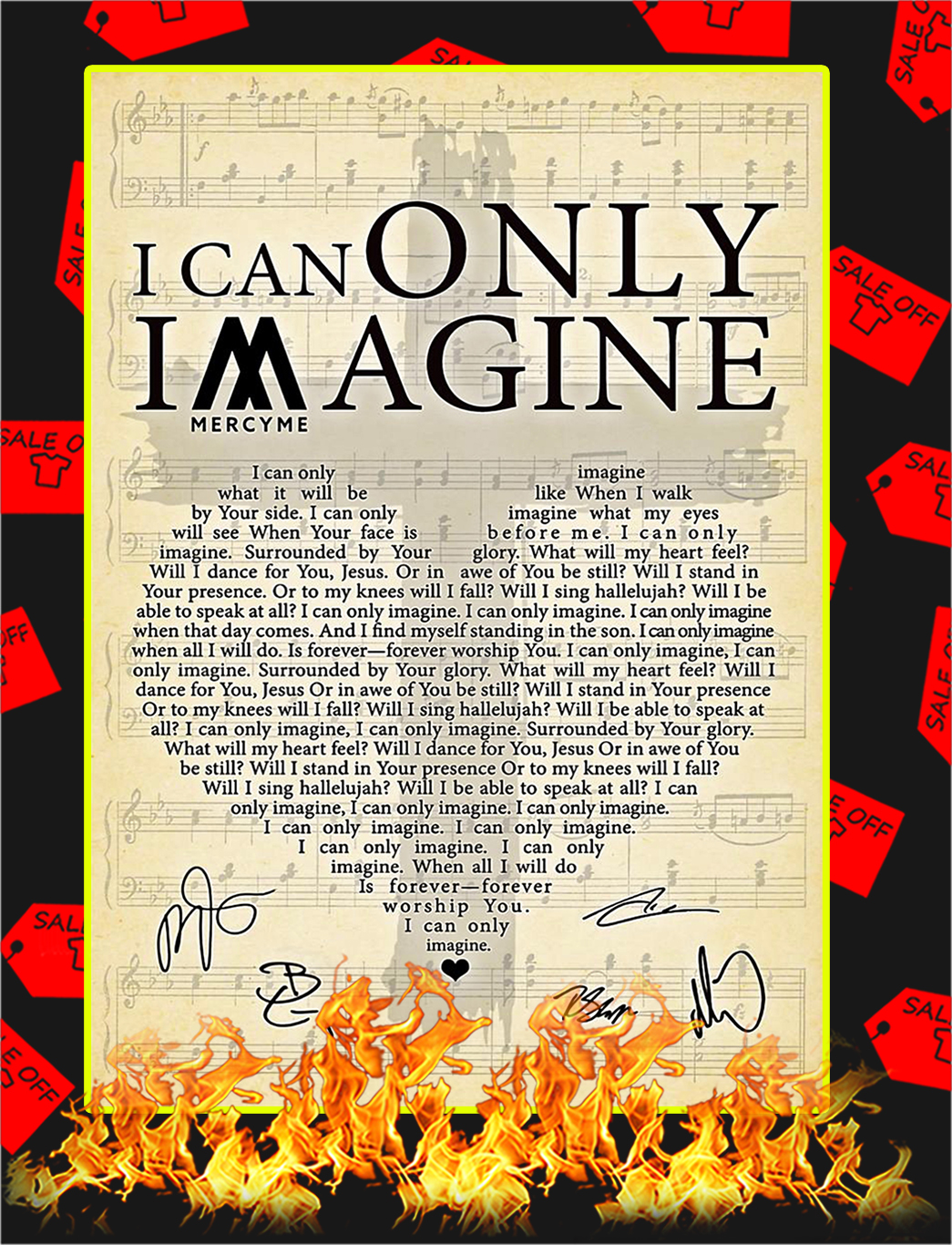 I Can Only Imagine Signature Poster - A4I Can Only Imagine Signature Poster - A4