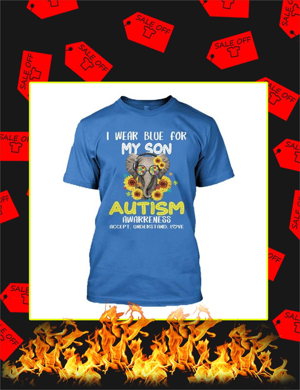 I Wear Blue For My Son Elephant Autism 3d Shirt