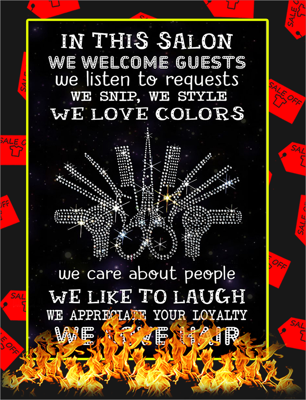 In This Salon We Welcome Guests Poster - A4