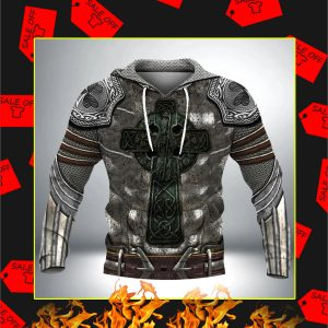 Irish Armor Knight Warrior Chainmail 3D All Over Printed Hoodie