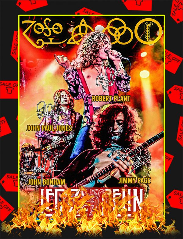 Led Zeppelin Signature Poster