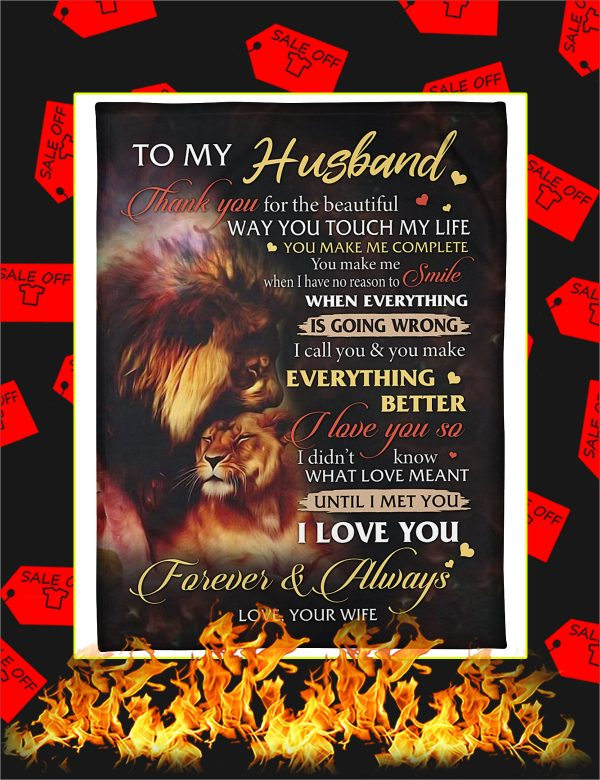 Lion To My Husband Blanket